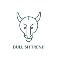 bullish trend line icon bullish trend vector image