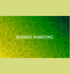 business marketing banner vector image
