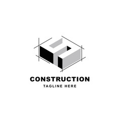 Construction logo design with letter s shape icon vector