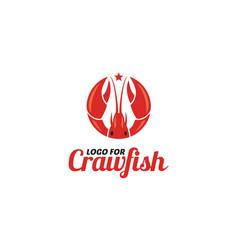 crayfish prawn shrimp lobster claw seafood logo vector image