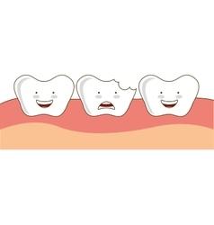 dental healthcare orthodontics icon vector image