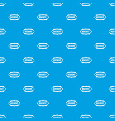 Discount oval label pattern seamless blue vector