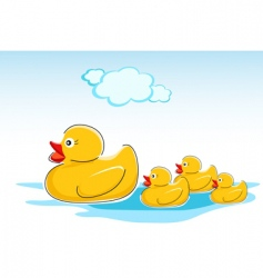 Ducks in water vector