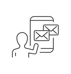 email marketing linear icon on white background vector image