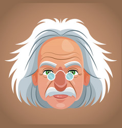 Face character scientist physical vector