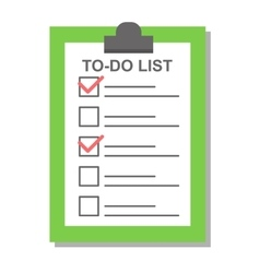 Flat plan check list icon vector