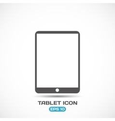 Flat Style Modern Tablet PC Icon vector image