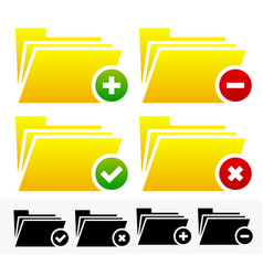 Folders with different symbols - document vector
