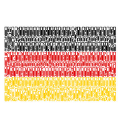 Germany flag mosaic of test tube icons vector