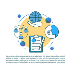 Global unity article page template sociology vector