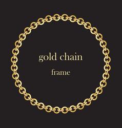 Gold round chains 5 vector