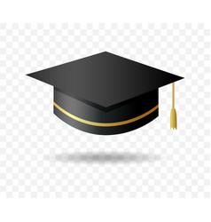 graduate university cap on transparent background vector image