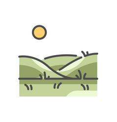 Grass land vector