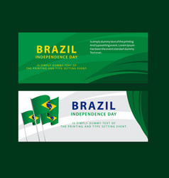 Happy brazil independence day poster template vector