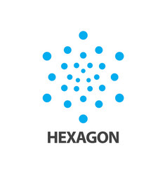 hexagon dot logo concept design symbol graphic vector image
