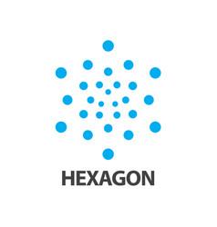 hexagon dot logo concept design symbol graphic vector image