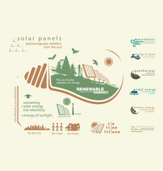 Infographics renewable source of solar energy vector