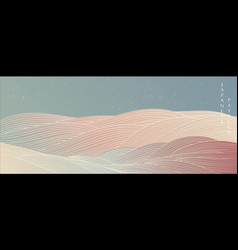 Japanese wave banner with abstract background vector