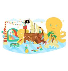kids zone play area for children cartoon vector image