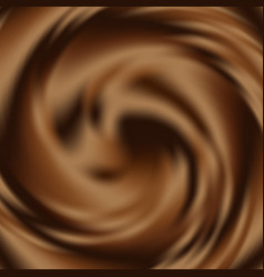 Liquid chocolate swirl background abstract vector