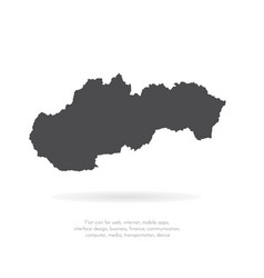 map slovakia isolated black vector image