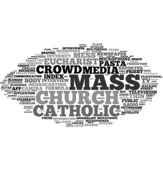 Mass word cloud concept vector