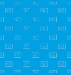 medical card of brain pattern seamless blue vector image