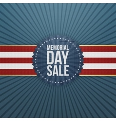 Memorial Day Sale textile Banner and Ribbon vector