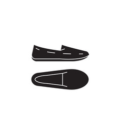moccasins black concept icon moccasins vector image