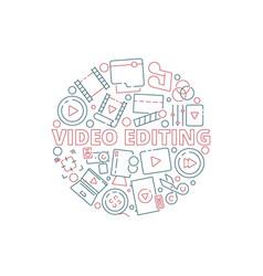 Movie circle background film cinema production vector