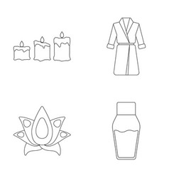 Multicolored candles with a flame a blue robe vector