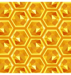 Origami honeycomb pattern vector
