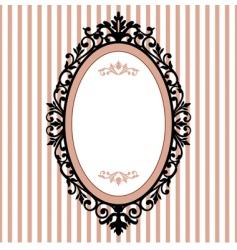 Oval vintage frame vector