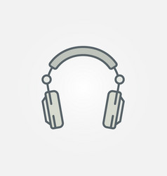Over-ear headphones colorful concept icon vector