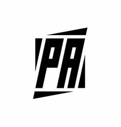 Pa logo monogram with modern style concept design vector