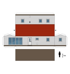 Paper model of a mobilhome vector