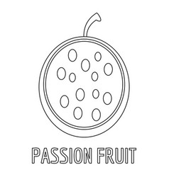 Passion fruit icon outline style vector