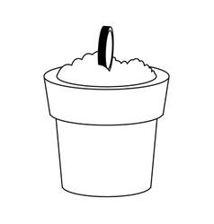 plantpot icon image vector image