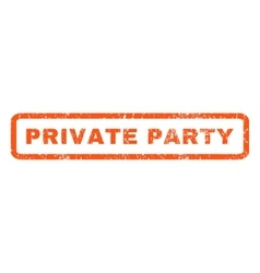 Private Party Rubber Stamp vector image