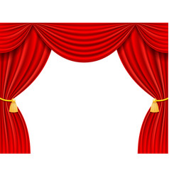 red theatrical curtain vector image
