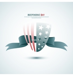 Ribbon Happy Independence Day card in vector image