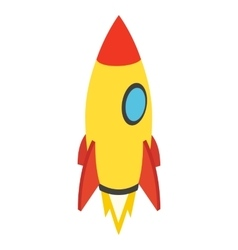 Rocket isometric icon vector image
