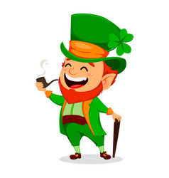 saint patrick day cartoon character leprechaun vector image