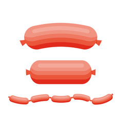 sausages product meat beef pork or chicken vector image