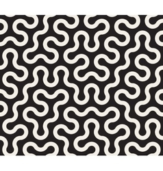 Seamless Black and White Tangled Round vector image