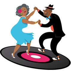 seniors dancing latin vector image
