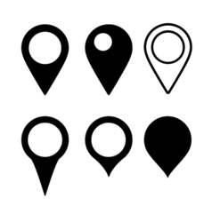 Set Map Marker vector image