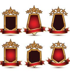 Set of geometric glamorous golden elements vector image