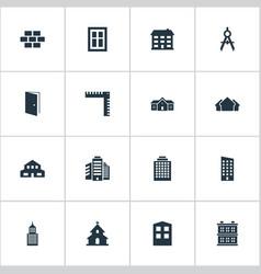 set simple architecture vector image