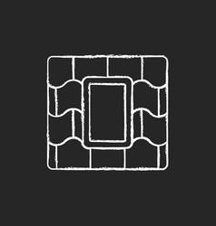 skylight windows chalk white icon on black vector image
